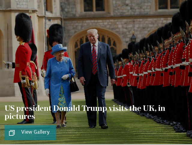 US president Donald Trump visits UK, in pictures