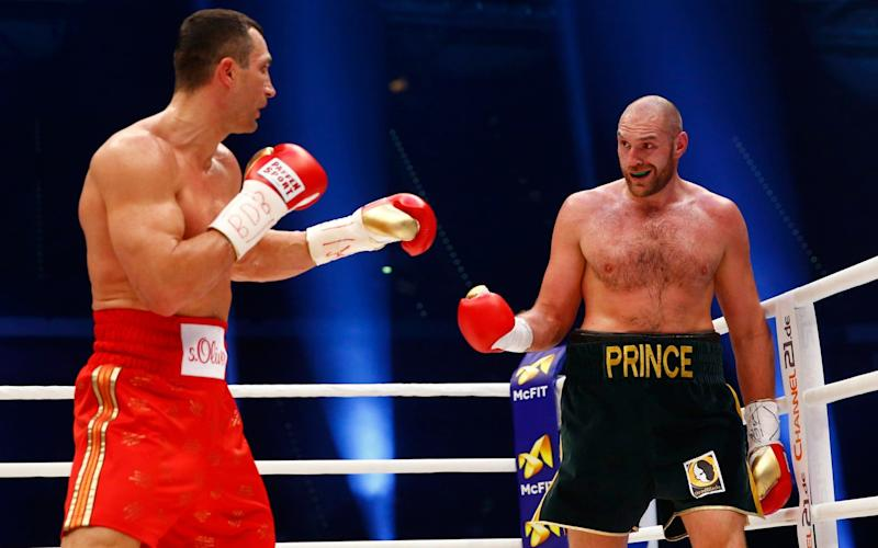 Tyson Fury defeating Wladimir Klitschko two years ago - Credit:  Reuters