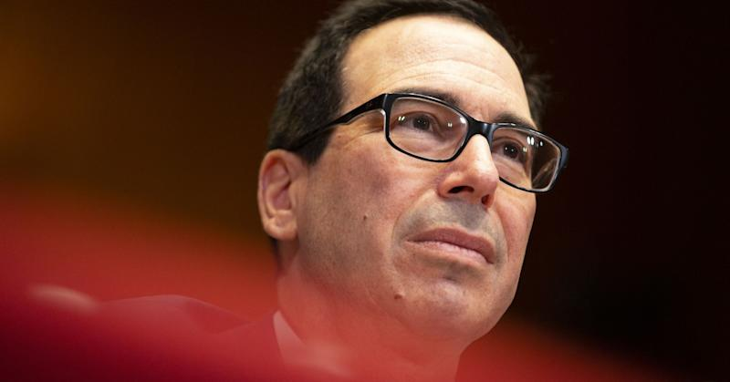 Steven Mnuchin, U.S. Treasury secretary, listens during a Senate Appropriations Financial Services Subcommittee hearing in Washington D.C., U.S., on May 15, 2019.