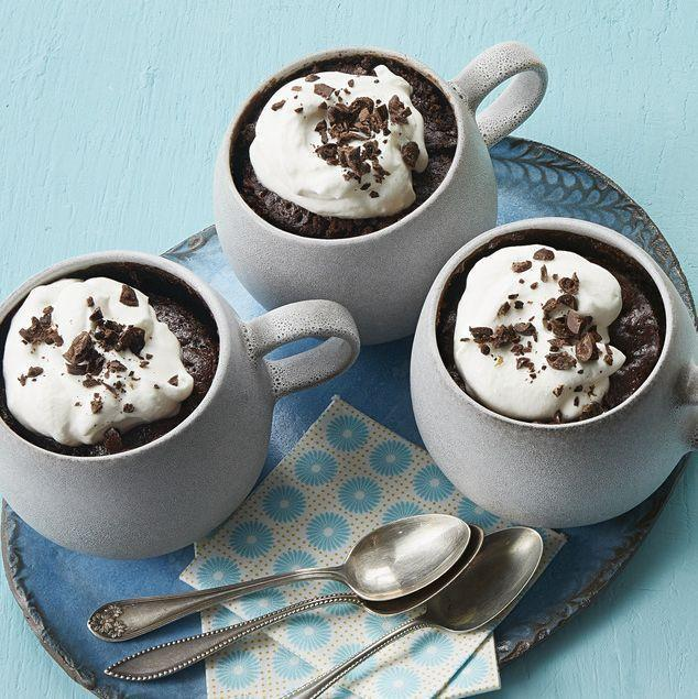 """<p>If you need something sweet ASAP, look no further than an easy mug cake. It's ready in just 10 minutes! </p><p><strong><a href=""""https://www.thepioneerwoman.com/food-cooking/recipes/a34225893/mocha-mug-cake/"""" rel=""""nofollow noopener"""" target=""""_blank"""" data-ylk=""""slk:Get Ree's recipe."""" class=""""link rapid-noclick-resp"""">Get Ree's recipe.</a> </strong></p>"""