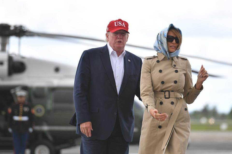 President Trump and first lady Melania Trump at Shannon Airport in County Clare, Ireland, June 7. (Photo: Mandel Ngan/AFP/Getty Images)