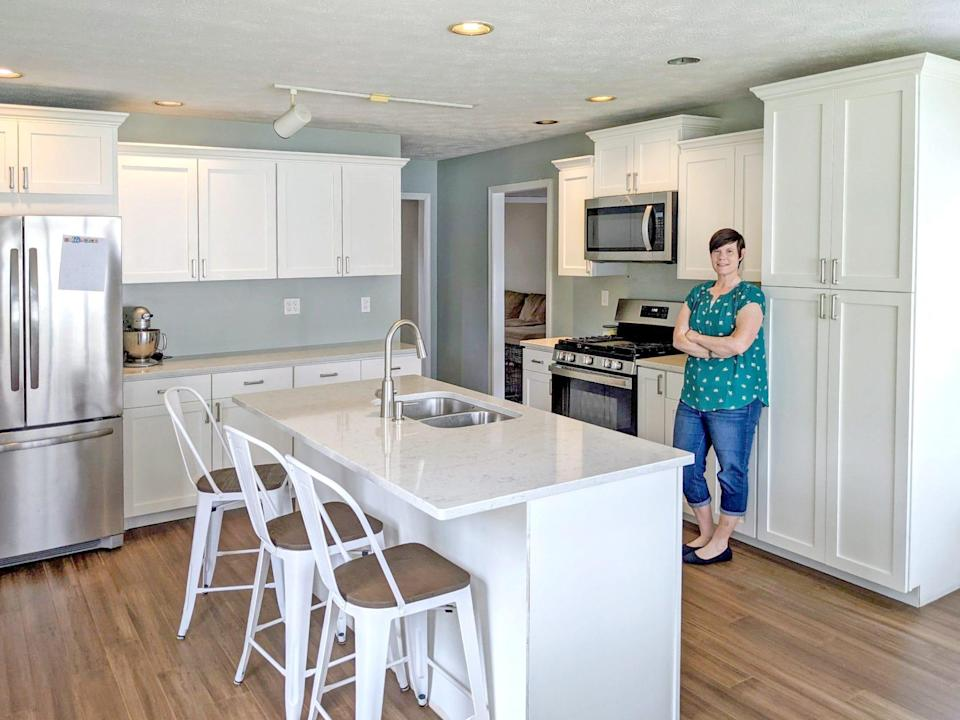 Allison Glass in her newly renovated kitchen