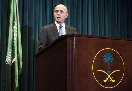 Saudi Ambassador to the United States Adel Al-Jubeir announces Saudi Arabia has carried out air strikes in Yemen against the Houthi militias who have seized control of the nation, during a news conference in Washington March 25, 2015. REUTERS/Joshua Roberts