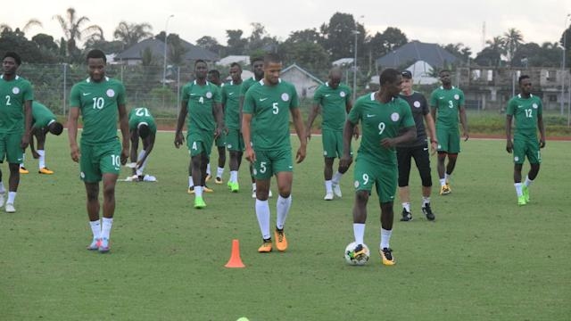 Gernot Rohr's men began preparation for Friday's World Cup qualifier against the Desert Foxes with their first training session in Rabat
