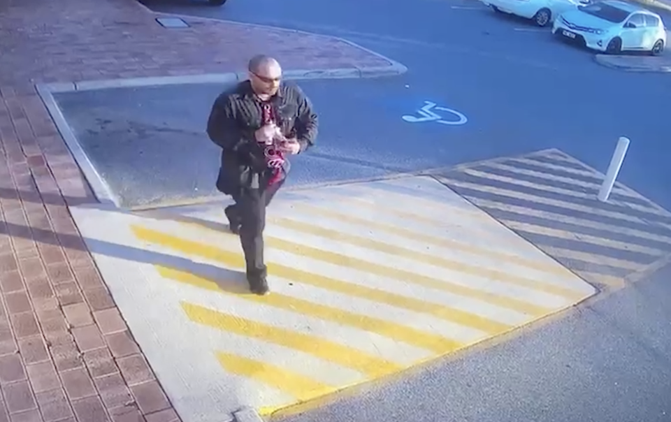 A man pictured on CCTV near Corfield Shopping Centre in Gosnells.