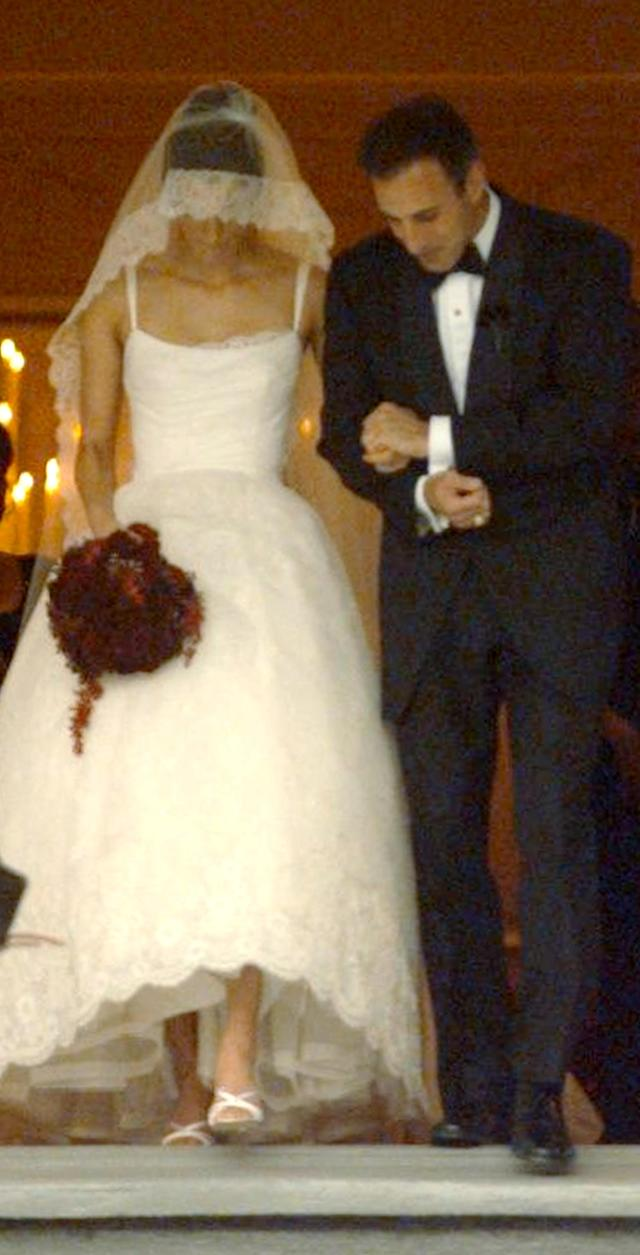 Matt Lauer married Annette Roque at Bridgehampton Presbyterian Church on Long Island in 1998. (Photo: John Roca/NY Daily News Archive via Getty Images)