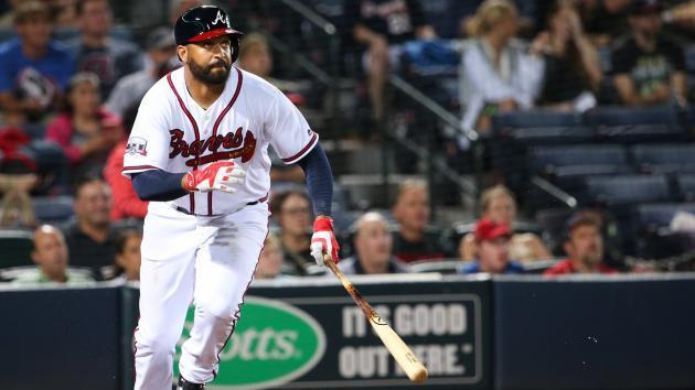 The Braves traded Matt Kemp back to the Dodgers on Saturday. (AP)