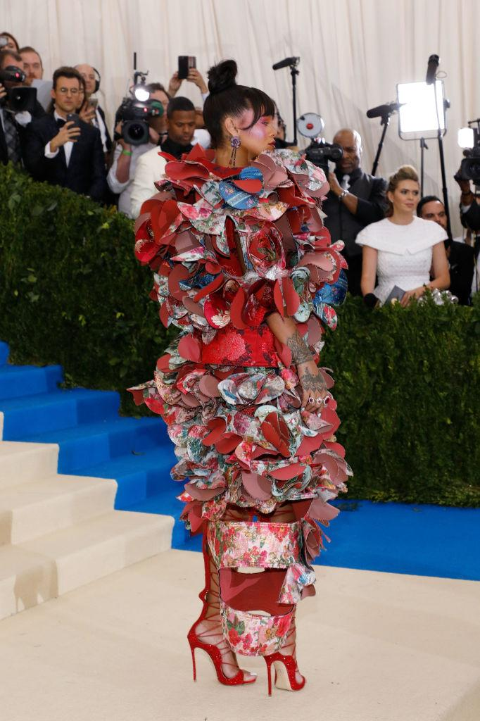 Rihanna on the red carpet at the Met Ball. (Photo: Taylor Hill/FilmMagic)