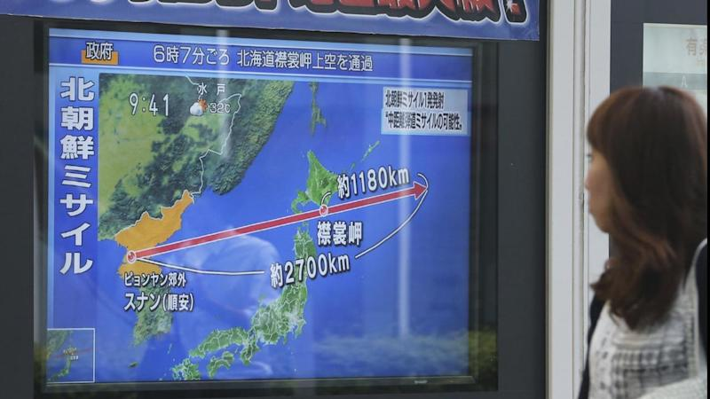 Japan's J-Alert system broke into radio and TV programs after North Korea's latest missile launch.