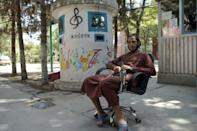 The Taliban have occupied the Afghanistan National Institute of Music, turning its classrooms into dormitories (AFP/WAKIL KOHSAR)