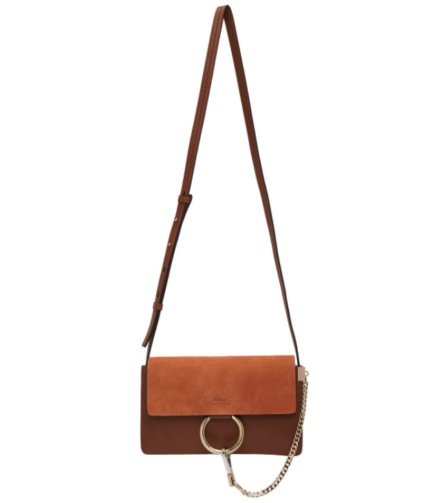 Chloé Brown Mini Faye Bag. Image via SSENSE.