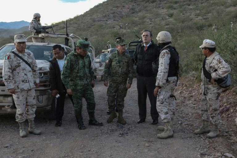 Mexican Secretary of Foreign Relations Marcelo Ebrard visited the site of the attack on a Mormon family