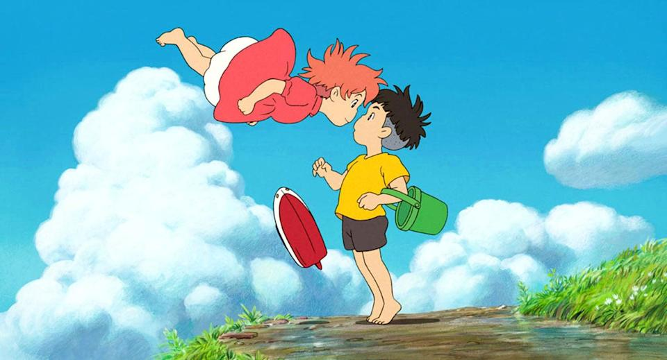 """<p><strong>HBO Max's Description:</strong> """"Perfect for audiences of all ages, Ponyo centers on the friendship between five-year-old Sosuke and a magical goldfish named Ponyo, the young daughter of a sorcerer father and a sea-goddess mother. After a chance encounter, Ponyo yearns to become a human so she can be with Sosuke.""""</p> <p><a href=""""https://play.hbomax.com/feature/urn:hbo:feature:GXrWweQmaqDmqwwEAAAAm"""" class=""""link rapid-noclick-resp"""" rel=""""nofollow noopener"""" target=""""_blank"""" data-ylk=""""slk:Watch Ponyo on HBO Max here!"""">Watch <strong>Ponyo</strong> on HBO Max here!</a></p>"""