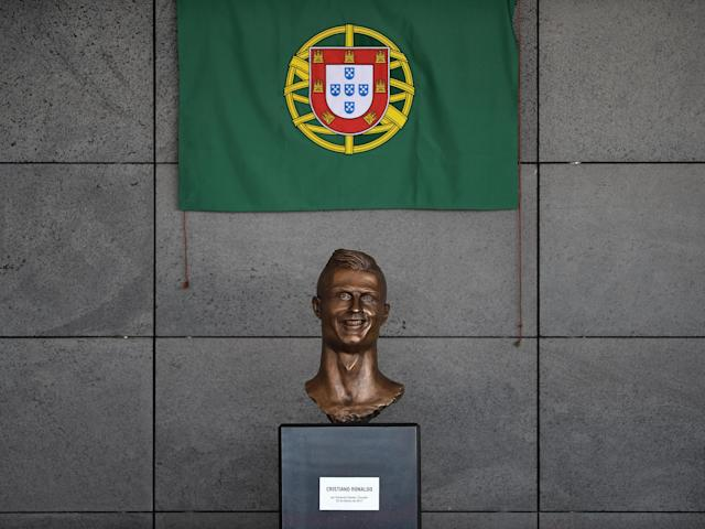 The dubious bust which now sits outside Aeroporto Cristiano Ronaldo: Getty