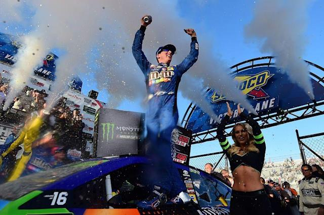 Kyle Busch won again in Dover. (AP)