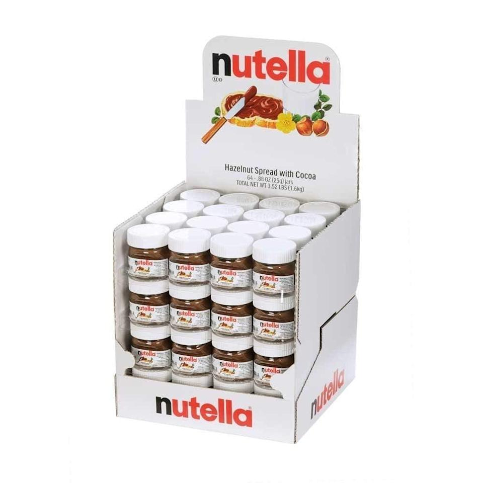 <p>This pack of 16 <span>Nutella Mini Glass Bottles</span> ($18) is perfect for the go-the-go Nutella-lover.</p>