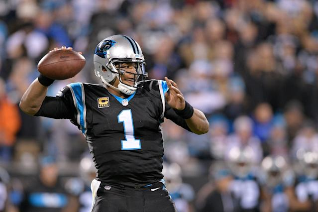 The roller-coaster ride that is Cam Newton was on full display as the first half ended Monday against the Saints. (Getty)
