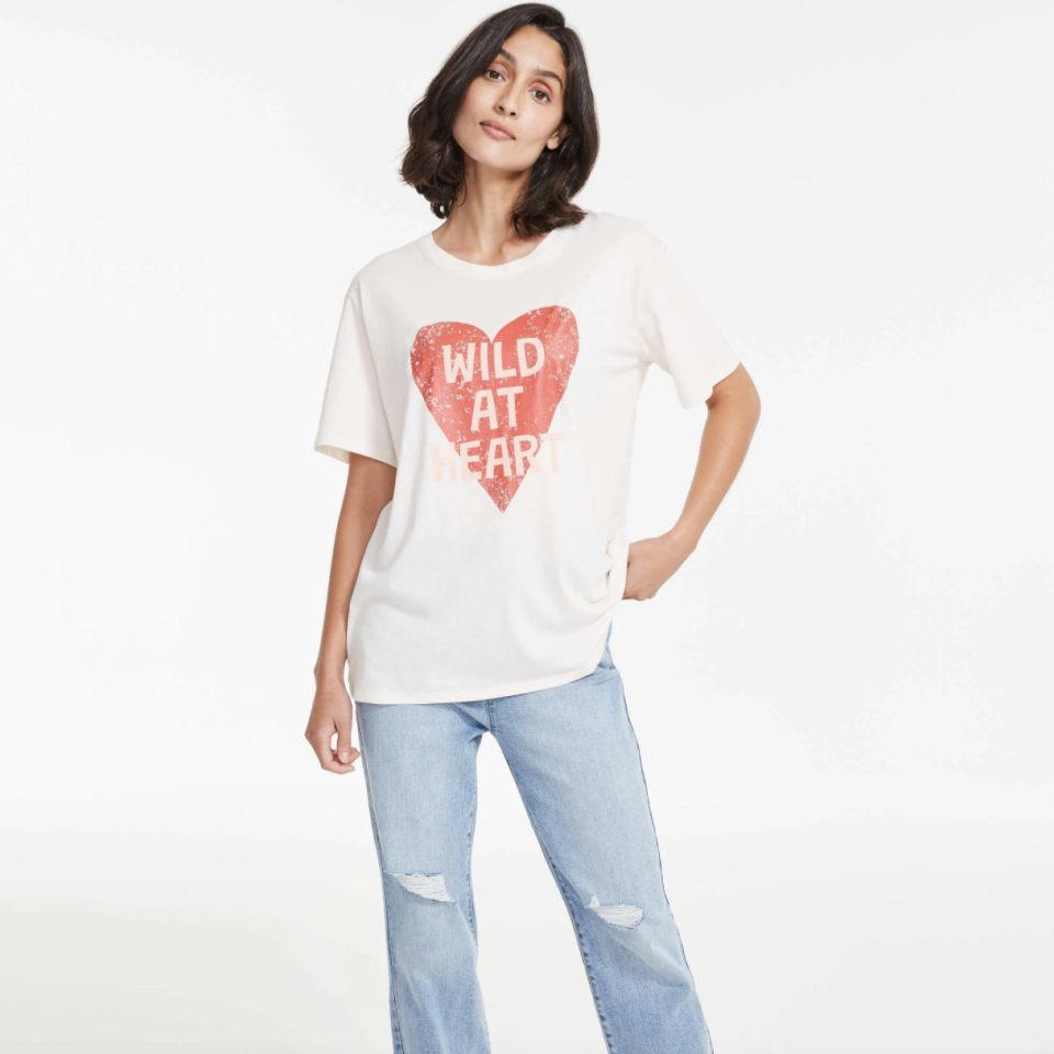 Marjorie Tee with wild at heart in text