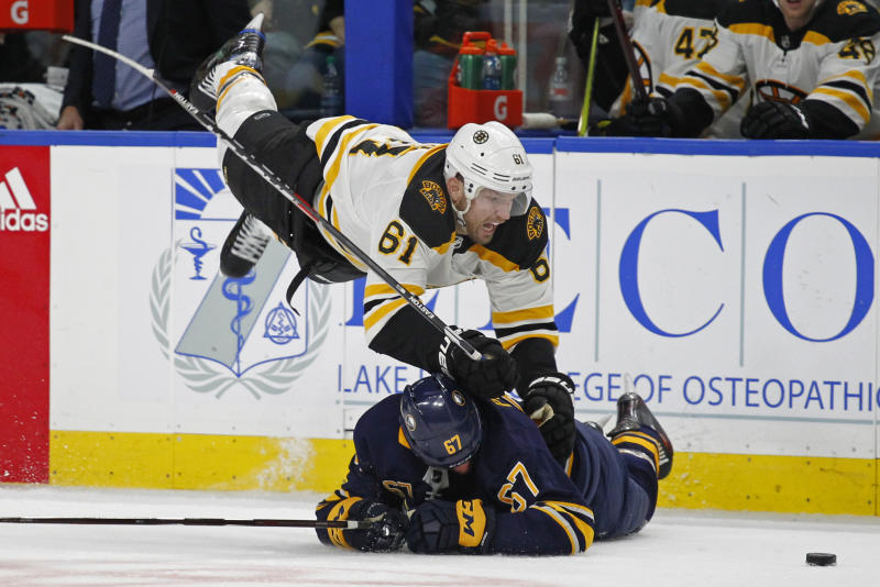 timeless design ad122 e3480 Sabres beat Bruins 4-1 in Rick Nash's debut for Boston