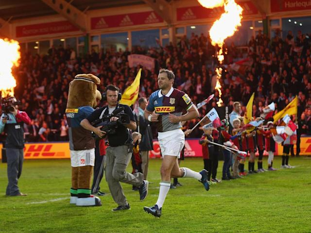 Evans led his team out on an emotional night at the Stoop (Getty)