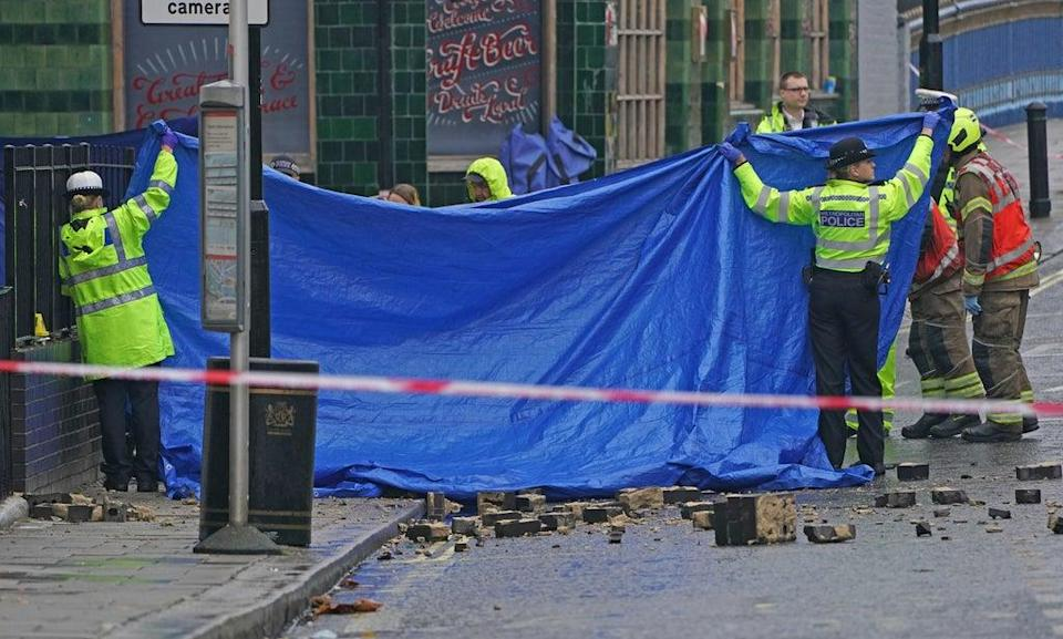 Emergency services at the scene of the crash (Kirsty O'Connor/PA) (PA Wire)