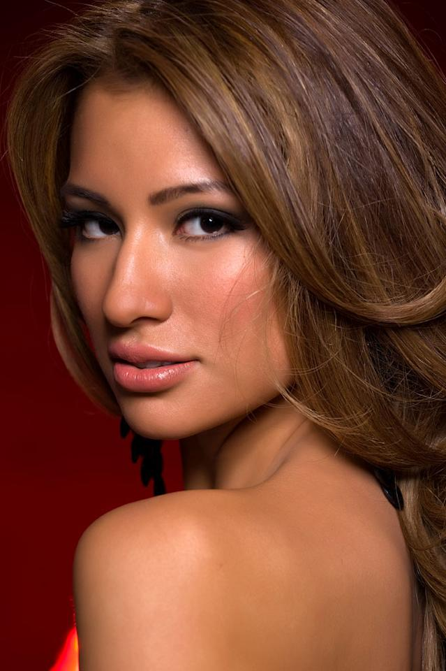 Tara Vaitiere Hoyos, Miss Great Britain 2010, competes for the title of Miss Universe 2010 during the 59th Annual Miss Universe competition from the Mandalay Bay Resort and Casino, in Las Vegas, Nevada.