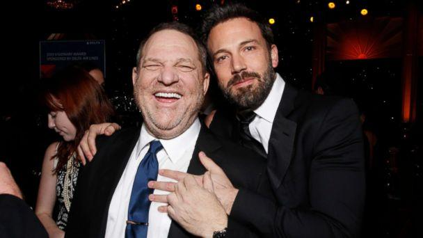 PHOTO: Producers Harvey Weinstein, left, and Ben Affleck attend the 24th Annual Producers Guild (PGA) Awards at the Beverly Hilton Hotel, Jan. 26, 2013, in Beverly Hills, Calif. (Todd Williamson/Invision/AP, FIle)