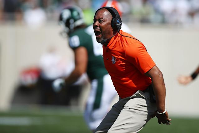 Mike Jinks has a 4-10 record at Bowling Green. (Photo by Gregory Shamus/Getty Images)