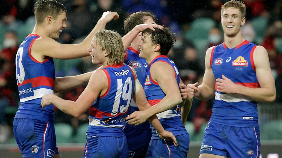 The Western Bulldogs will stay in Tasmania for a week before travelling to Queensland the day before their semi-final against the Brisbane Lions. (Photo by Grant Viney/AFL Photos via Getty Images)