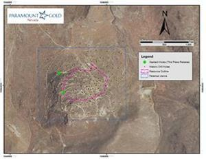 Location of geotechnical drill holes at Grassy Mountain