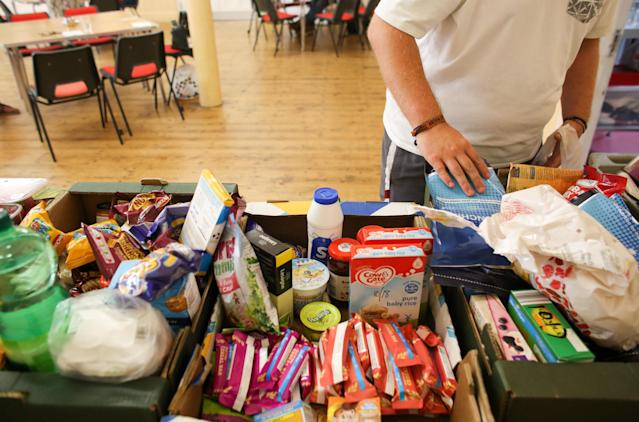 There has been a sharp rise in the use of food banks by families and children impacted by lockdown measures. (Getty Images)