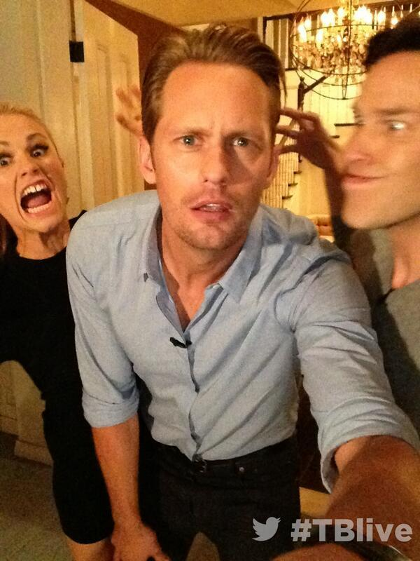 On set at #TBlive #TrueBlood ...with Alexander Skarsgård Anna Paquin Stephen Moyer