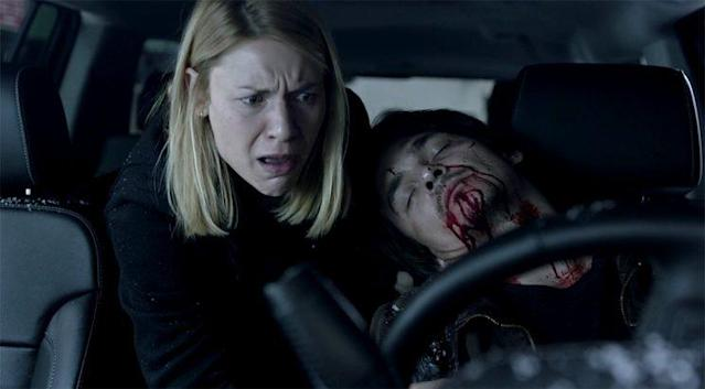 Claire Danes as Carrie Mathison and Friend in Showtime's 'Homeland' (Photo: Showtime)