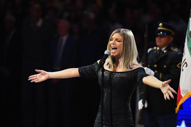 Her jazzy rendition at the NBA All-Star game didn't go smoothly