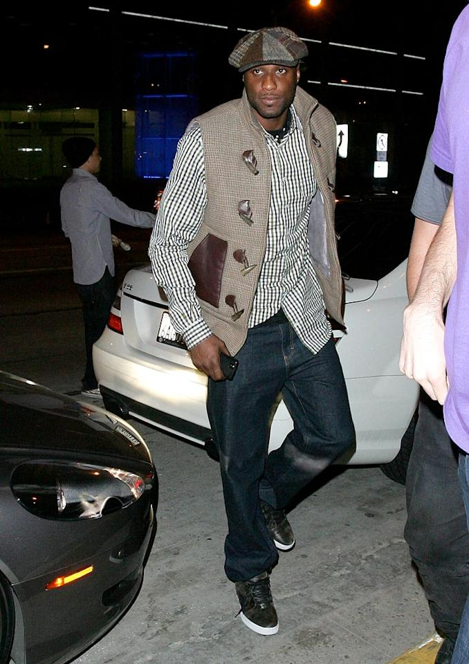 """Los Angeles Lakers forward Lamar Odom (aka Mr. Khloe Kardashian) and other celebs spent Tuesday night at West Hollywood hangout Trousdale. AlphaX/<a href=""""http://www.x17online.com"""" target=""""new"""">X17 Online</a> - April 13, 2010"""