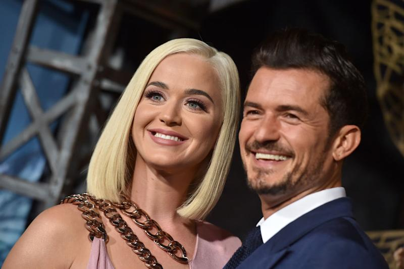 Katy Perry and Orlando Bloom attended the premiere of 'Carnival Row' [Photo: Getty]