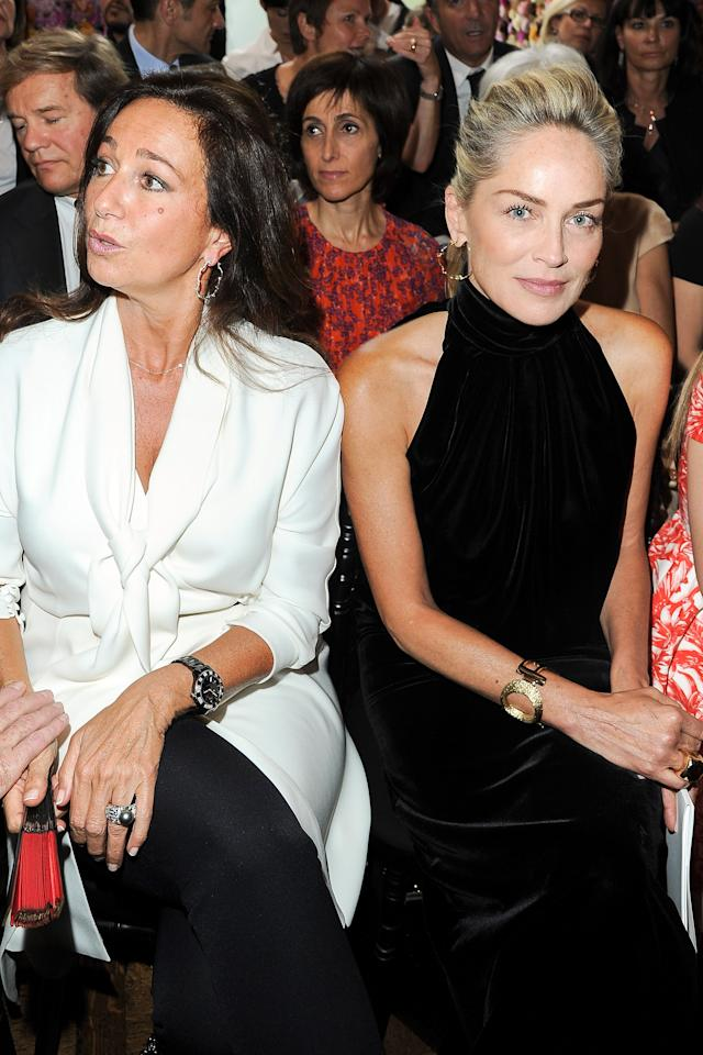 PARIS, FRANCE - JULY 02:  Katia Toledano and Sharon Stone attend the Christian Dior Haute-Couture show as part of Paris Fashion Week Fall / Winter 2013 on July 2, 2012 in Paris, France.  (Photo by Pascal Le Segretain/Getty Images)