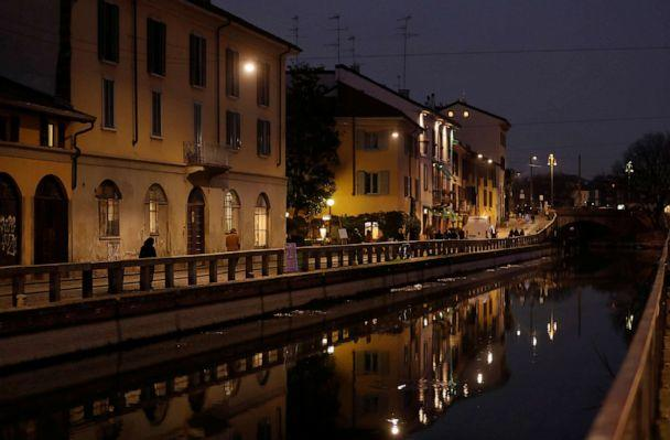 PHOTO: Closed bars and pubs are seen in the Naviglio area of Milan, Italy, as the country is hit by the novel coronavirus outbreak, Feb. 25, 2020. (Yara Nardi/Reuters)