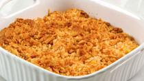 """<p><strong>Recipe: <a href=""""https://www.southernliving.com/recipes/pineapple-casserole-recipe"""" rel=""""nofollow noopener"""" target=""""_blank"""" data-ylk=""""slk:Pineapple Casserole"""" class=""""link rapid-noclick-resp"""">Pineapple Casserole</a></strong></p> <p>Canned pineapple chunks, Cheddar cheese, and Ritz crackers are a winning combination. If you've never tried it, this may be the year to put it on the table. <strong><br></strong></p>"""