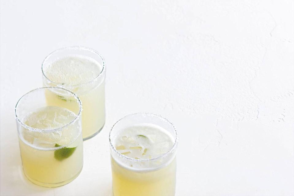 "Key limes give this otherwise classic margarita on the rocks a distinctive flavor and fragrant aroma. <a href=""https://www.epicurious.com/recipes/food/views/key-lime-margaritas-351853?mbid=synd_yahoo_rss"" rel=""nofollow noopener"" target=""_blank"" data-ylk=""slk:See recipe."" class=""link rapid-noclick-resp"">See recipe.</a>"