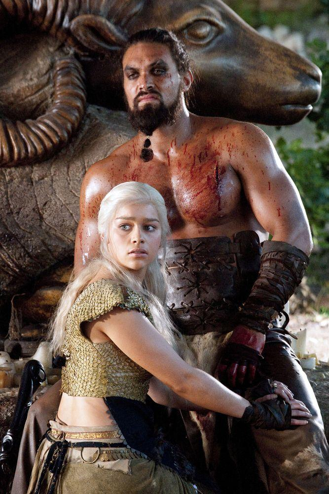 Emilia Clarke and Jason Momoa | Hbo/Kobal/REX/Shutterstock