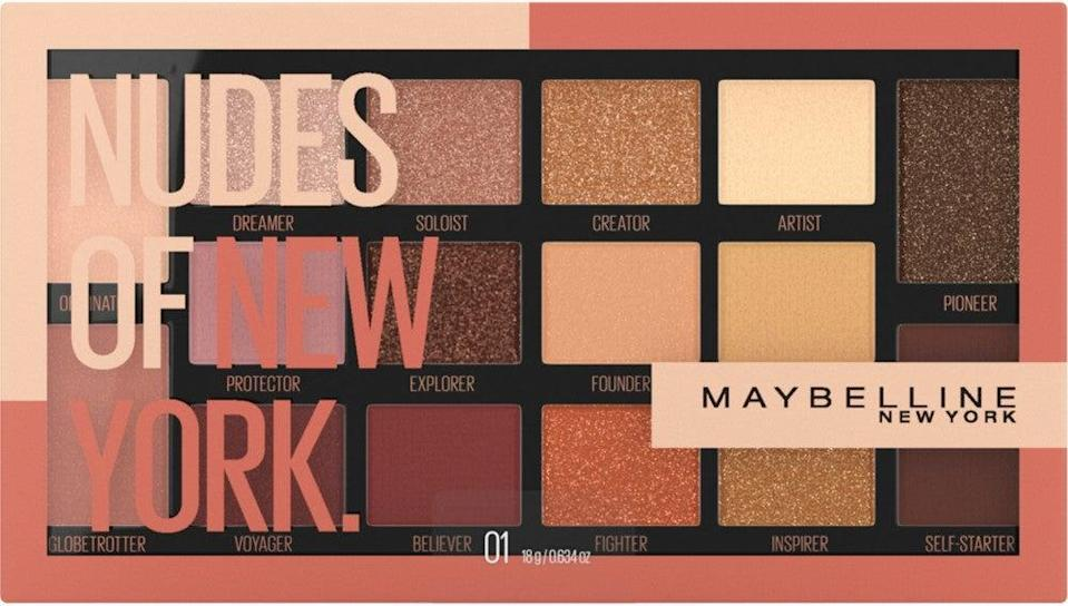 "<h2>Maybelline Nudes Of New York Eyeshadow Palette</h2><br>""This palette was clearly made by someone who understands the art of a subtle smoky eye. There are shimmery colors for the lids, matte blending shades for the crease and brow bone, and complementary shades to highlight that match <em>perfectly</em>. I use it every single day, both for casual and more dressed up looks — and have gotten more compliments on my eyes than ever."" — Cat Quinn, beauty director<br><br><strong>Maybelline</strong> Maybelline Nudes of New York Eyeshadow Palette, $, available at <a href=""https://go.skimresources.com/?id=30283X879131&url=https%3A%2F%2Fwww.ulta.com%2Fnudes-of-new-york-eyeshadow-palette%3FproductId%3Dpimprod2011907"" rel=""nofollow noopener"" target=""_blank"" data-ylk=""slk:Ulta Beauty"" class=""link rapid-noclick-resp"">Ulta Beauty</a>"