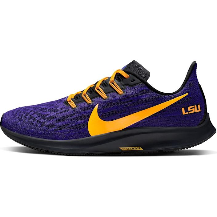 Men's Nike Purple/Gold LSU Tigers Air Zoom Pegasus 36 Sneakers