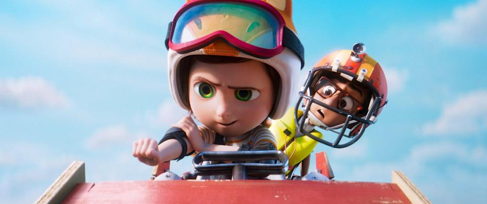 """<p><strong>Amazon's Description:</strong> """"Buckle up for a fun-tastic family adventure where anything is possible! Future inventor June discovers her dream amusement park is real. But when trouble hits, she takes her misfit team of animal friends on an unforgettable journey to save the park.""""</p> <p><a href=""""https://www.amazon.com/gp/video/detail/B07PGBHL8K/ref=atv_br_def_r_br_c_unkc_1_2"""" class=""""link rapid-noclick-resp"""" rel=""""nofollow noopener"""" target=""""_blank"""" data-ylk=""""slk:Watch Wonder Park on Amazon Prime Video here!"""">Watch <strong>Wonder Park</strong> on Amazon Prime Video here!</a></p>"""