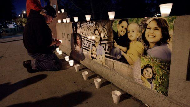 PHOTO: A makeshift memorial with photographs of Susan Cox Powell and her sons Braden and Charlie, is lit with candles during a vigil at McKinley Park in Tacoma, Wash., Feb. 6, 2012. (Ted S. Warren/AP, FILE)