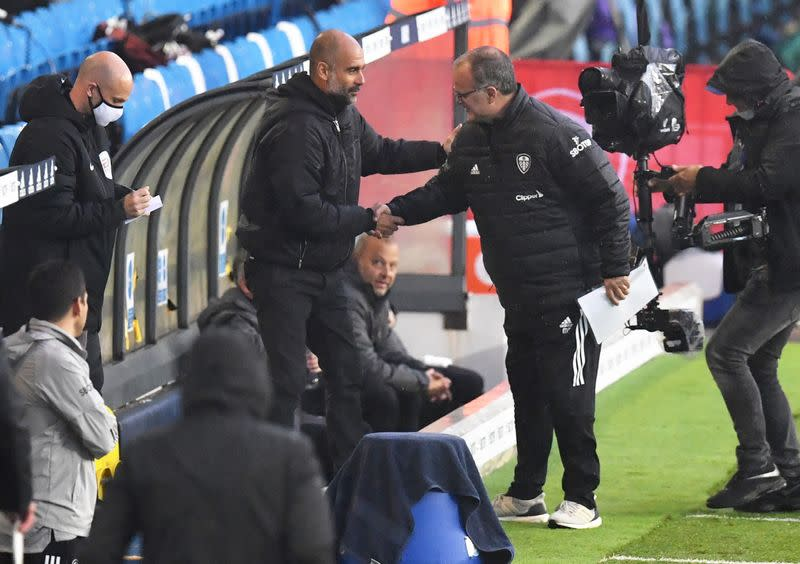 Old friends Guardiola and Bielsa praise each other after lively draw