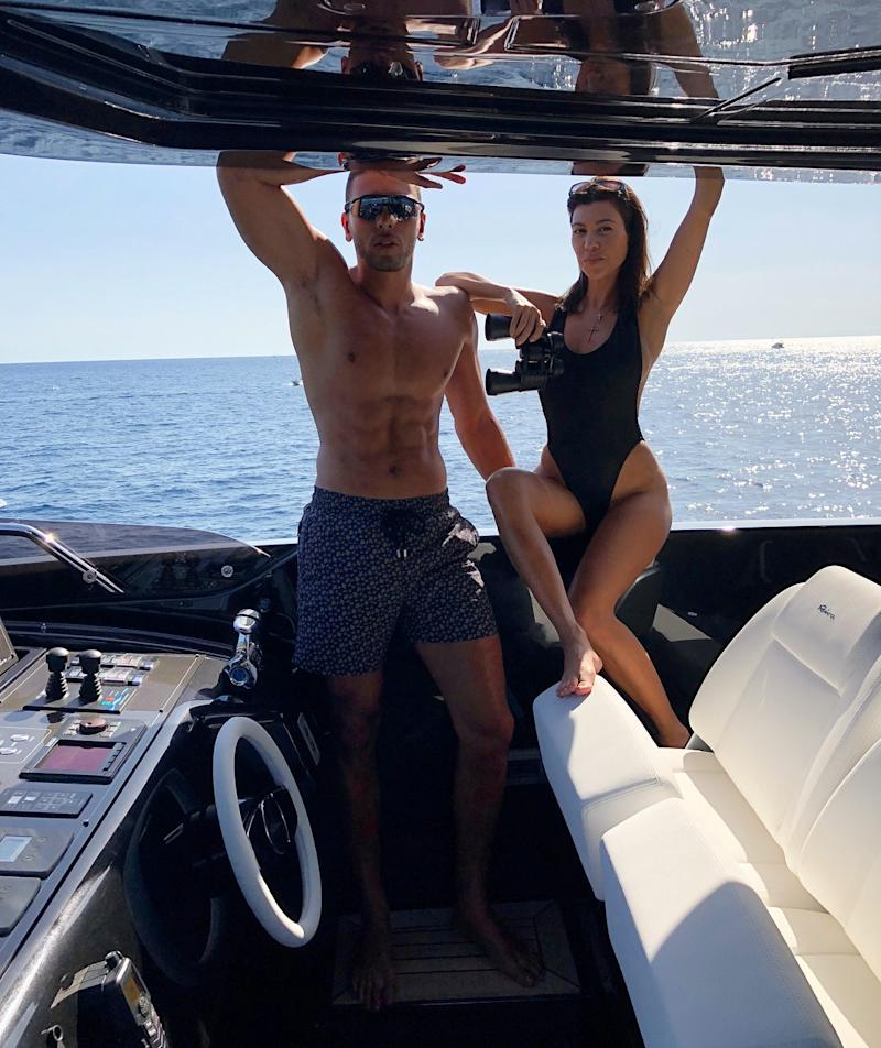 Before the pair very messily called it quits, in July, Kourtney Kardashian and Younes Bendjima spent much sunnier times out on the water in Portofino.