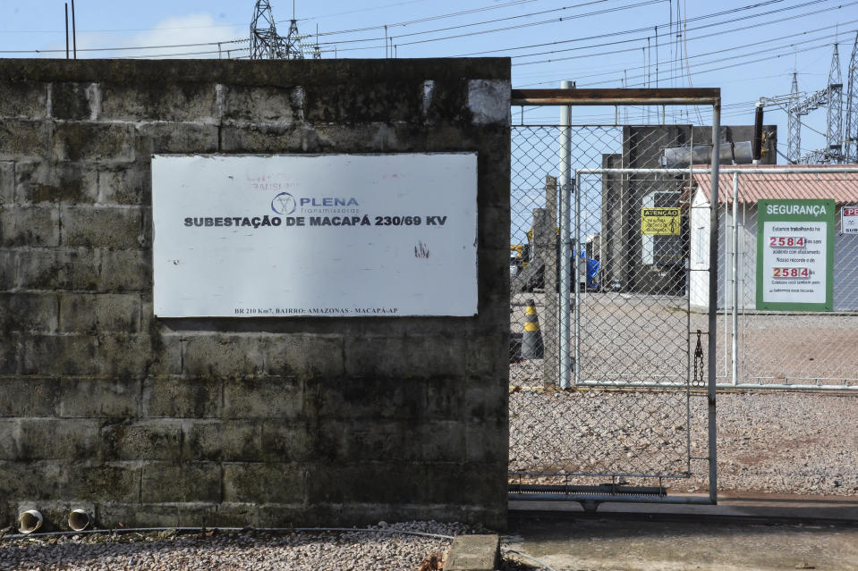 MACAPA, BRAZIL - NOVEMBER 08: A general view of the 230/69 kV Macapa substation during a blackout due to a fire on November 8, 2020 in Macapa, Brazil. The substation located in the North Zone of Macapa undergoes maintenance after a fire that has left 89% of the state of Amapa (about 765 thousand people) without electricity since Tuesday the 3rd. There is a lack of running water in the city and ATMs and card machines do not work and only gas stations with a generator are able to operate. (Photo by Luiza Nobre/Getty Images)