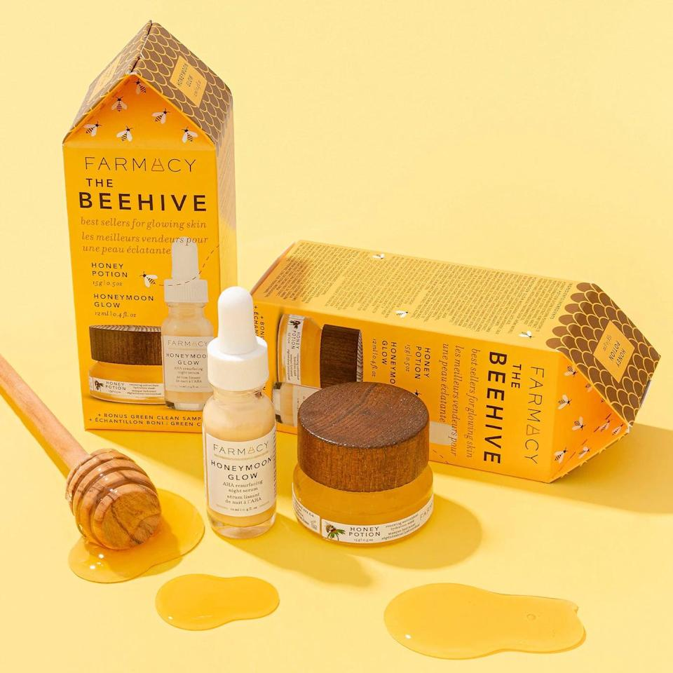 <p>If they love honey, they'll love the skin-care benefits of this powerhouse ingredient. The <span>Farmacy The Beehive: Best-Sellers for Glowing Skin</span> ($28) will give brighten their complexion.</p>