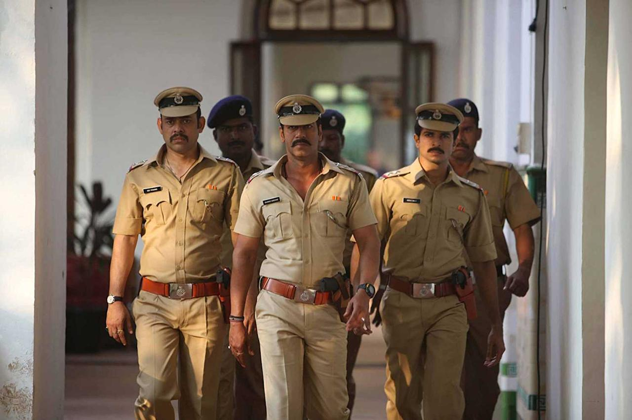 <p>This Rohit Shetty film, starring Ajay Devgn as the honest cop Inspector Bajirao Singham who tries to eradicate corruption, is one of the most popular film of the actor and the director. Intense fight scenes, slow-motion explosions and Ajay Devgn's acting chops have made this films a super hit among the masses. The movie is followed up by 'Singham 2', an equally popular sequeal. </p>